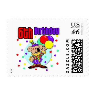 6th Birthday Australia Birthday Postage Stamp
