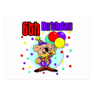 6th Birthday Australia Birthday Postcard