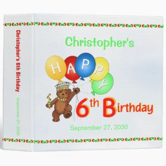 6th Birthday Bears Memory Album 2 Inch Binder