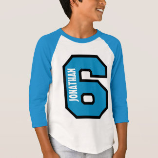 6th Birthday Boy Sports Number Five Years A03A T-Shirt