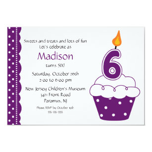 cupcake birthday invitations zazzle