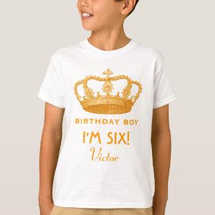 6th Birthday Custom Name Crown Gift Idea V06 T Shirt