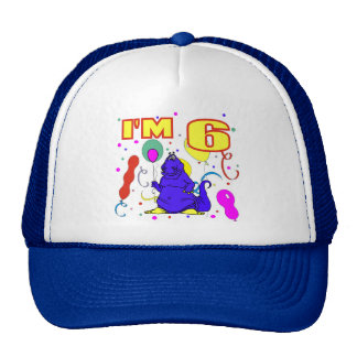 6th Birthday Dinosaur Birthday Trucker Hat
