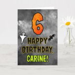 [ Thumbnail: 6th Birthday: Eerie Halloween Theme + Custom Name Card ]