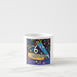 6th Birthday Espresso Cup