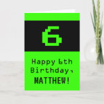 """[ Thumbnail: 6th Birthday: Nerdy / Geeky Style """"6"""" and Name Card ]"""