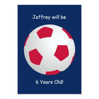 6th Birthday Party Invitation Soccer Ball
