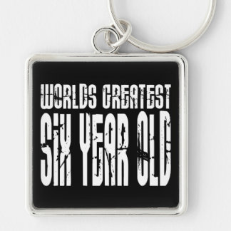 6th Birthday Party Worlds Greatest Six Year Old Key Chain