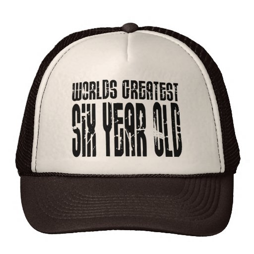 6th Birthday Party Worlds Greatest Six Year Old Trucker Hat