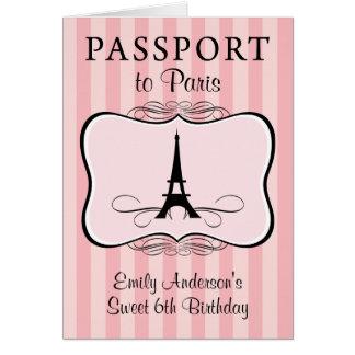 6th Birthday Passport Invitation