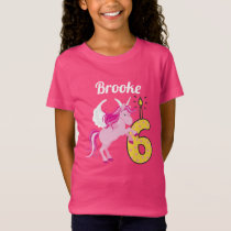 6th Birthday Personalized Name Unicorn Shirt
