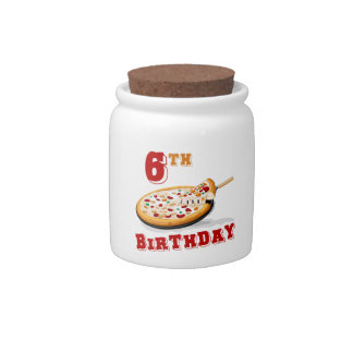 6th Birthday Pizza Party Candy Jars