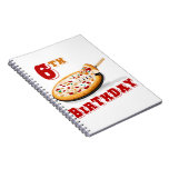 6th Birthday Pizza Party Notebook