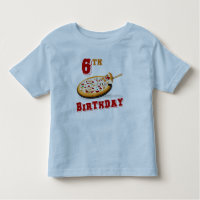 6th Birthday Pizza Party Toddler T-shirt