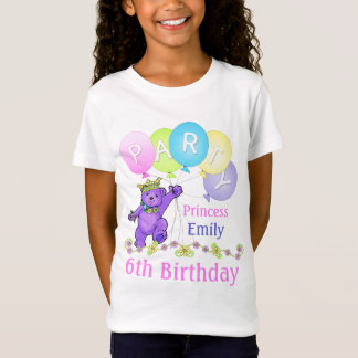 6th Birthday Princess, Custom Name T-Shirt