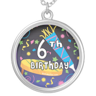 6th Birthday Silver Plated Necklace