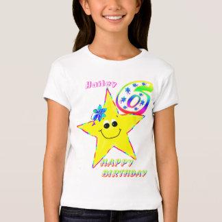 6th Birthday Smiley Stars Shirt