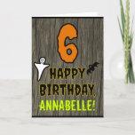 [ Thumbnail: 6th Birthday: Spooky Halloween Theme + Custom Name Card ]