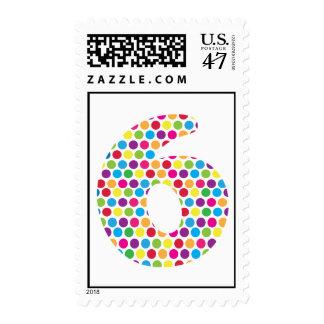 6th Birthday Stamp