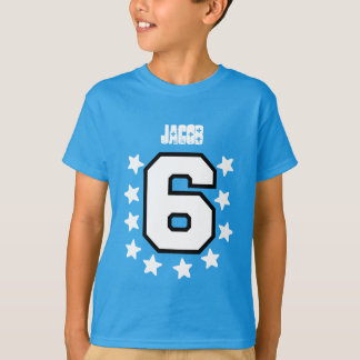 6th Birthday White Stars and White Big Number V05 T-Shirt