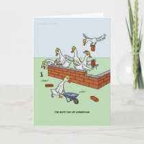 6th Day of Christmas (Six Geese a-Laying) Card