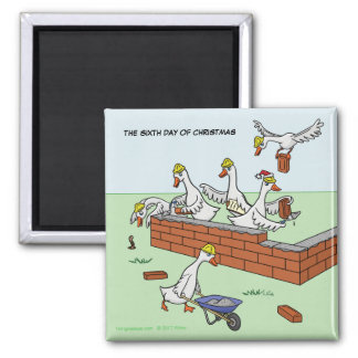 6th Day of Christmas (Six Geese a-Laying) Magnet