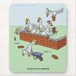 6th Day of Christmas (Six Geese a-Laying) Mousepad