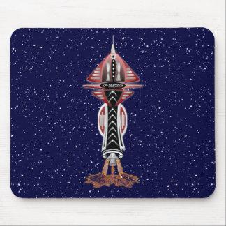 6th Dimension Rocket Ship Mousepad