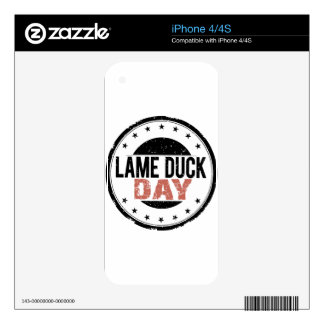 6th February - Lame Duck Day Decals For The iPhone 4S