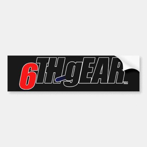 6TH gEAR logo Bumper Sticker
