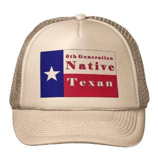 6th Generation Native Texan Flag Hat