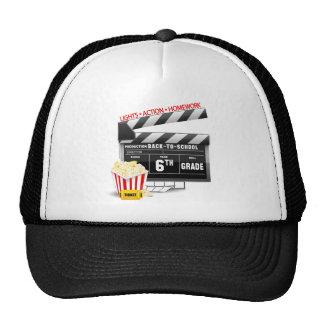 6th Grade Movie Clapboard Trucker Hat