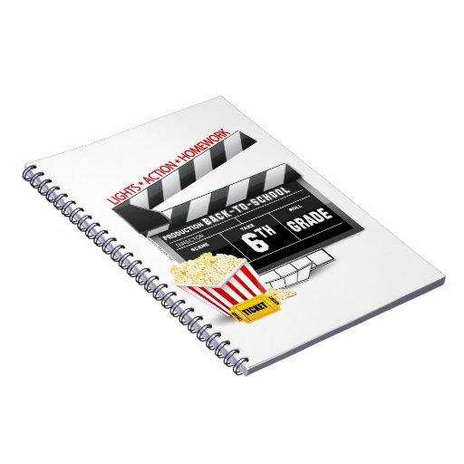 6th Grade Movie Clapboard Note Book