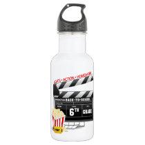 6th Grade Movie Clapboard Stainless Steel Water Bottle