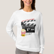 6th Grade Movie Clapboard T-Shirt