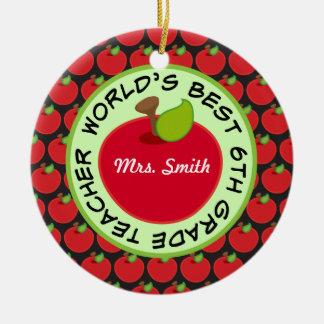 6th Grade Personalized Teacher Gift Ornament