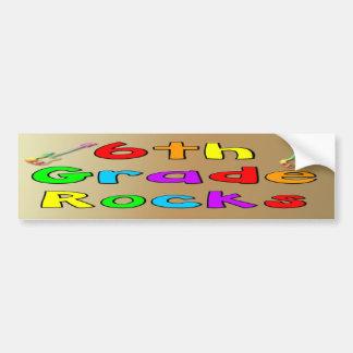 6th Grade Rocks Car Bumper Sticker