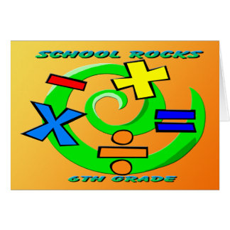 6th Grade Rocks - Math Symbols Greeting Cards
