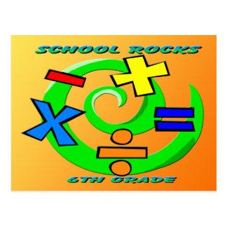 6th Grade Rocks - Math Symbols Postcard