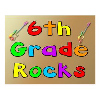 6th Grade Rocks Postcard