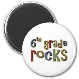 6th Grade Rocks Sixth 2 Inch Round Magnet