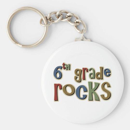 6th Grade Rocks Sixth Keychain