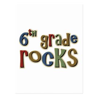 6th Grade Rocks Sixth Postcard