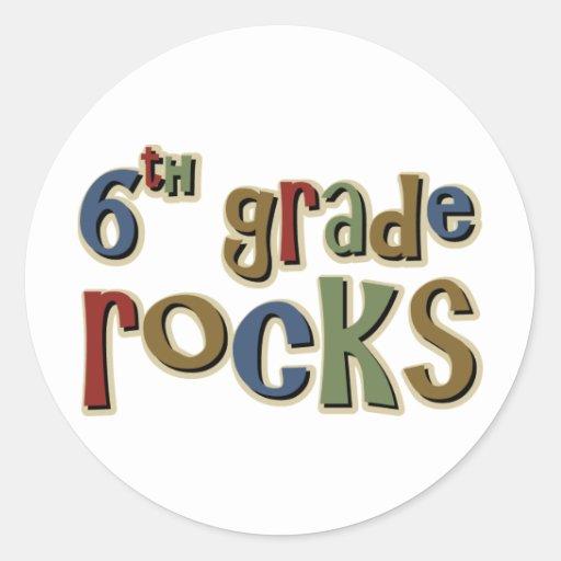 6th Grade Rocks Sixth Stickers