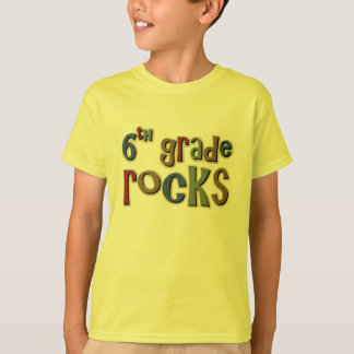 6th Grade Rocks Sixth T-Shirt