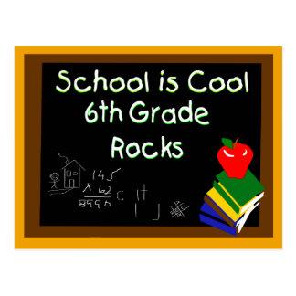 6th Grade School is Cool Chalk Board Postcard