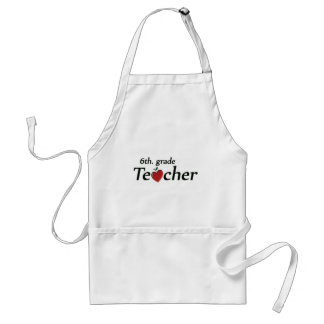 6th. Grade Teacher Adult Apron
