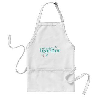 6th Grade Teacher Adult Apron
