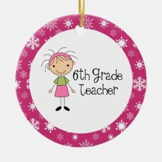6th Grade Teacher Ornament