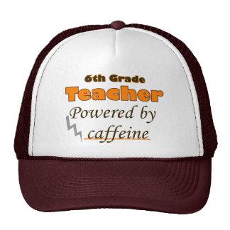 6th Grade Teacher Powered by caffeine Trucker Hat